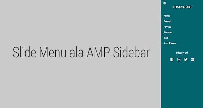 AMP Slide Menu sidebar