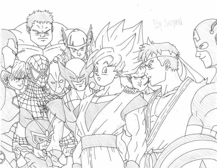 Imagenes Para Colorear De Goku Super Sayayin: Dibujos Para Colorear De Goku Super Saiyan 10