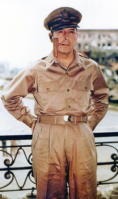 General Douglas MacArthur Color photo World war II worldwartwo.filminspector.com