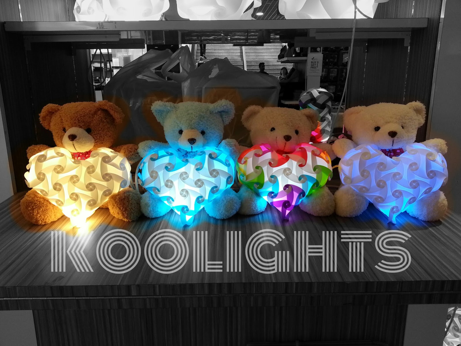 Teddy bear, plush toy, koolights, koolights korea, table lamp, luvalamp, iq lamp, iq light, jigsaw lamp, jigsaw light, puzzle lamp, puzzle light, handmade lights, lamps, night lamp, lampshades, night light, DIY, lights, christmas gifts, cool gifts, gifts, corporate, mrlampshop, rainbow colors, franchise, distributor, eco friendly, plastic bottle puncher, recycle, upcycle, reuse plastic, led, handicraft, hand made, creative, rainbow, red, pink, orange, yellow, green, purple, white, black, pp, plastic, change shapes, assemble, DIY, do it yourself