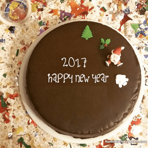 New Year's Day Cakes | yummy Cakes of happy New Year 2017