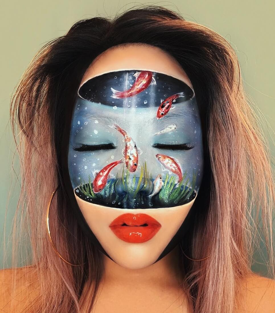 02-Fish-Tank-Mimi-Choi-Optical-Illusions-Body-Painting-Makeup-Effects-NO-Photoshop-www-designstack-co