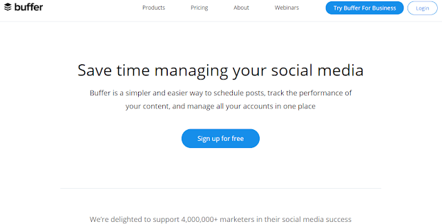 Buffer social media management tool