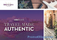 Logo Mercure - Travel made authentic: vinci gratis 62 Travel kit, 5 Polaroid Pop e 1 GoPro