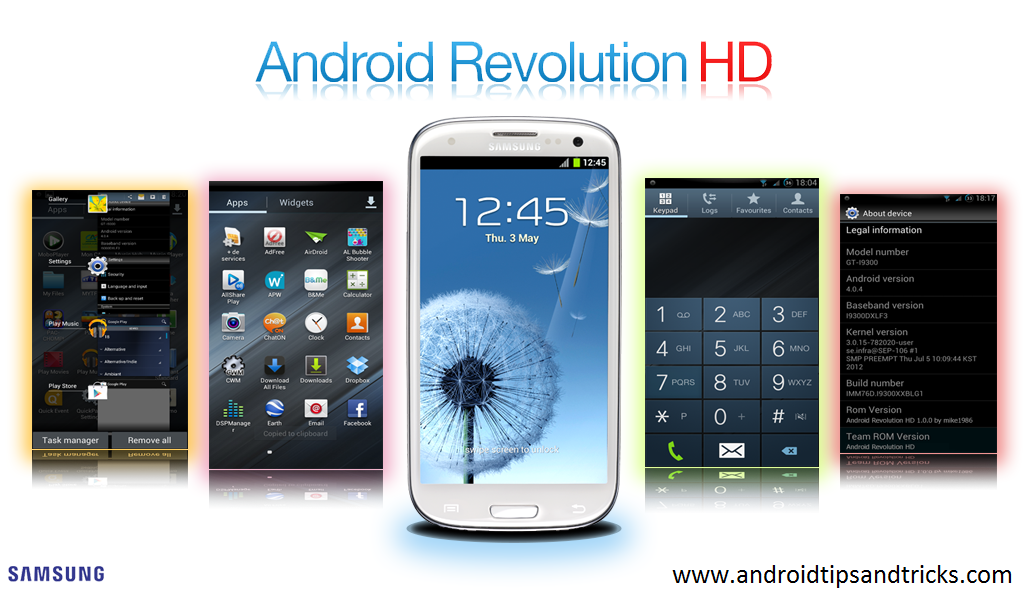 Android Revolution HD ROM For Samsung Galaxy S3 i9300