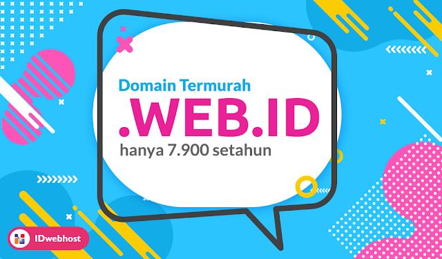 IDwebhost, Domain WEB.ID Hanya 7.900 IDR