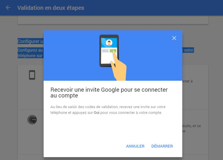 Google simplifie l'authentification en 2 étapes