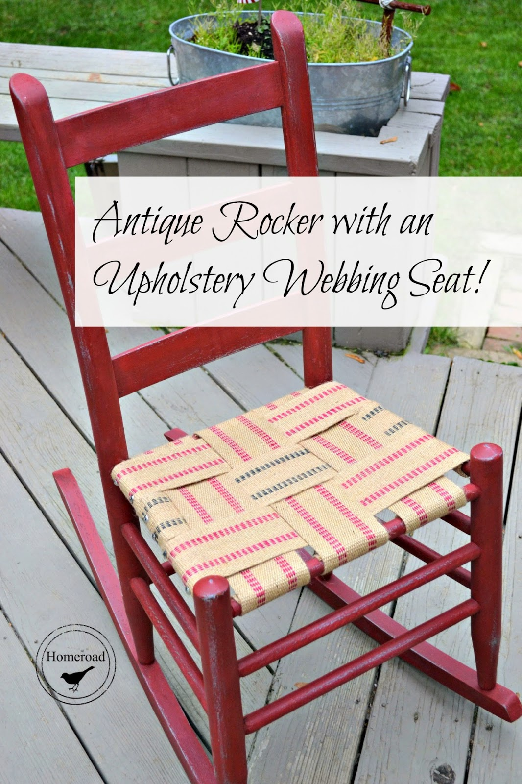 rewebbing a chair serta office reviews antique rocker with an upholstery webbing seat homeroad