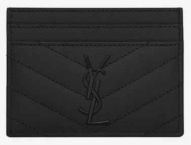 3a4ec41ffb310 YSL Black Grain de Poudre Textured Matelassé leather