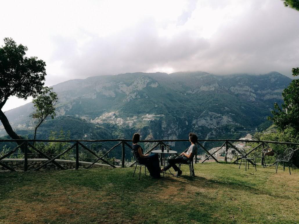 Ravello dārzs Villa Cimbrone