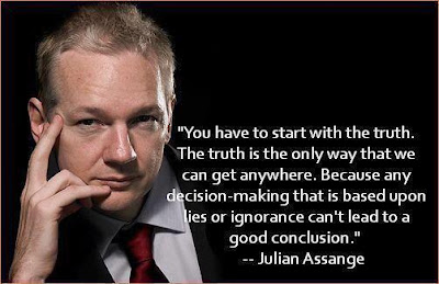 Julian Assange's exclusive interview in London, UK, Ecuadorian Embassy - You have to start with the truth. The truth is the only way that we can get anywhere. Because any decision-making that is based upon lies or ignorance can't lead to a good conclusion.
