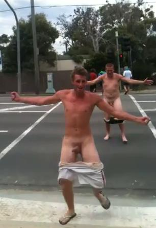 The naked lads in public congratulate