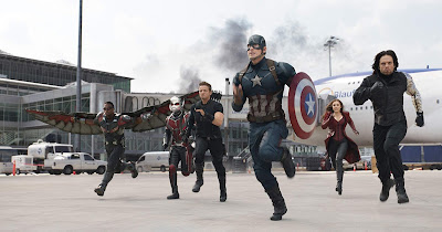 Avengers running at the airport