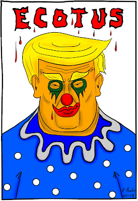 Trump Evil Clown