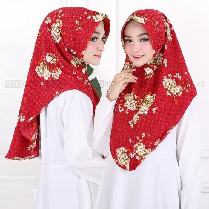 Hijab Minipad Moonflower Terbaru Motif Bunga Cantik