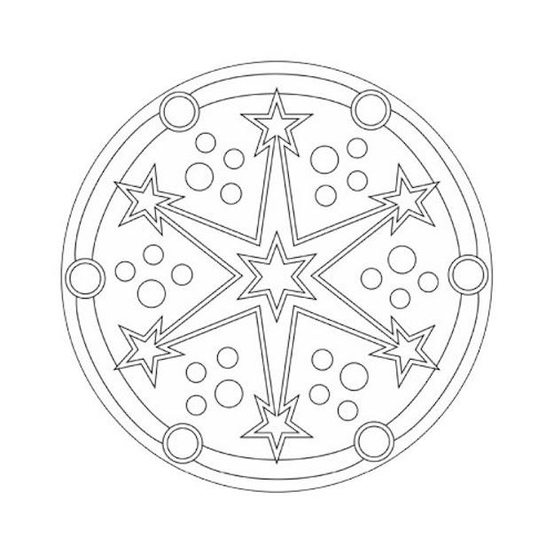 Mandala Coloring Pages Stars