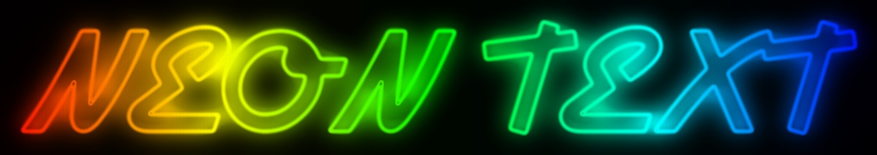 Picture to People: Glow neon text effect generator online