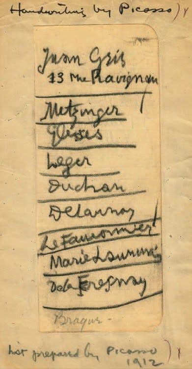 La lista de artistas europeos esenciales según Picasso