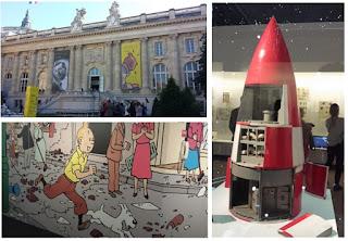 Grand palais exposition Tintin Hergé fusée 2016