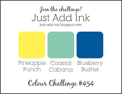 Jo's Stamping Spot - Just Add Ink Challenge #454