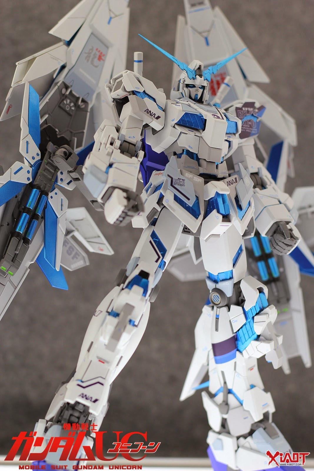 GUNDAM GUY: MG 1/100 Unicorn Gundam ANA Color - Customized ...