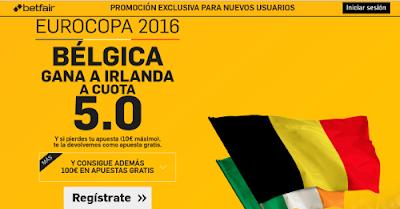 betfair Belgica gana Irlanda supercuota 5 Eurocopa 2016 18 junio