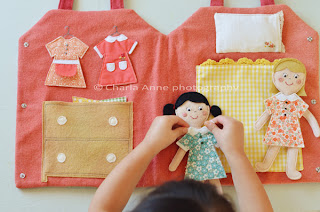 Image: Felt Dress-up Dolls and Carrying Case