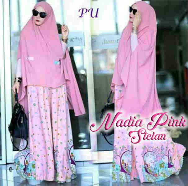 Pusat Grosir Baju Wanita Gamis Muslimah Nadia Setelan 0816702