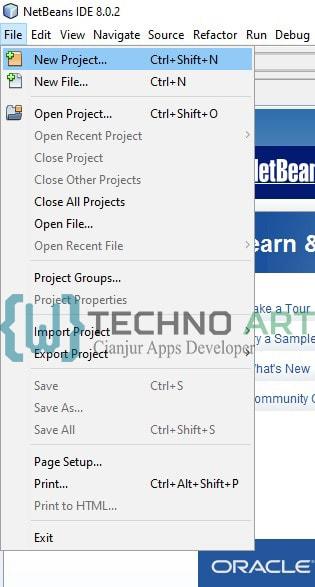 Membuat project baru pada Netbeans