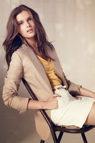 Giedre Dukauskaite For Massiomi Dutti  June 2011 Lookbook