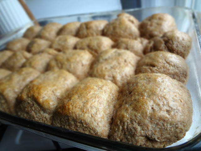 Soft 100% Whole Wheat Rolls