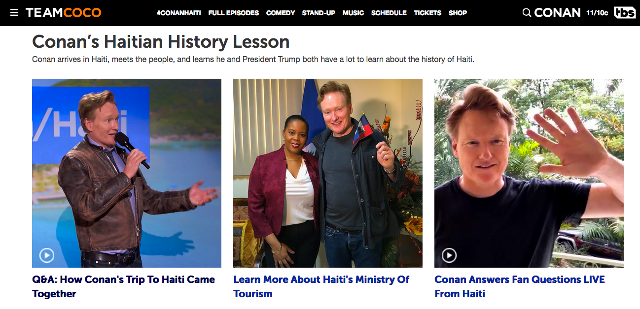 conan o brien visits haiti the remarkable story of how team coco is