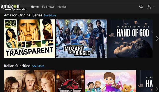 Amazon Prime Video sul browser internet PC