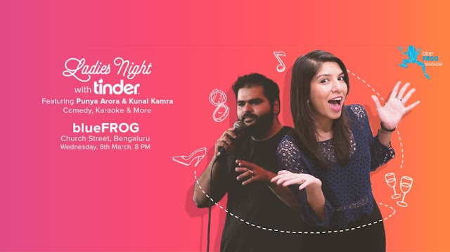 'Tinder Women's Day Comedy Gig features Punya Arora and Kunal Kamra'
