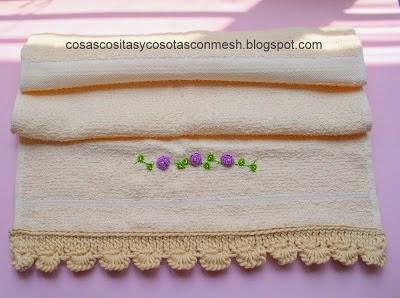 Puntillas para toallas servilletas y ropa cositasconmesh - Hacer puntillas de ganchillo ...