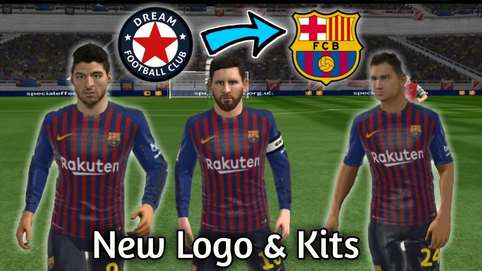 6bb34c2ac Fc Barcelona 2018-2019 Logo and Kits For Dream League Soccer