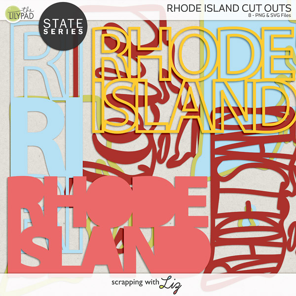 Rhode Island Digital Scrapbook Cut Outs