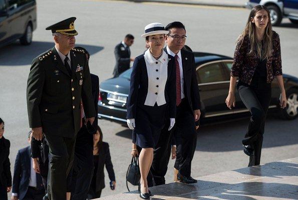 President Recep Tayyip Erdoğan hosted Princess Akiko. Prince Mikasa Foundation at Sakıp Sabancı Museum