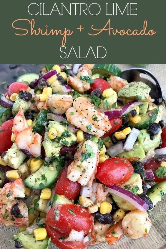 Cilantro Lime Shrimp And Avocado Salad