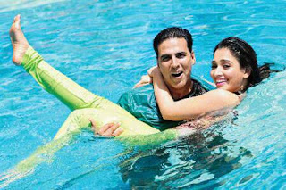 Akshay and Tamanna On The Sets of its Entertainment