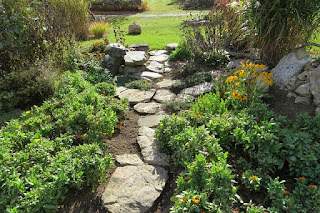Garden Path Paved with Walking Stones