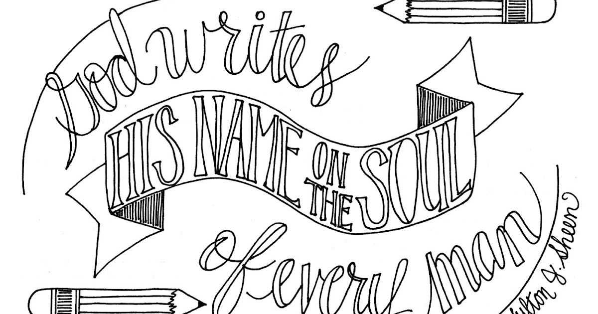 Look to Him and be Radiant: God Writes His Name Coloring Page