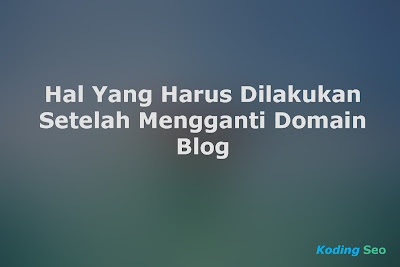 5 Langkah Yang Harus Dilakukan Setelah Mengganti Domain TLD Blog