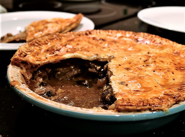 Steak, Mushroom & Stilton Pie