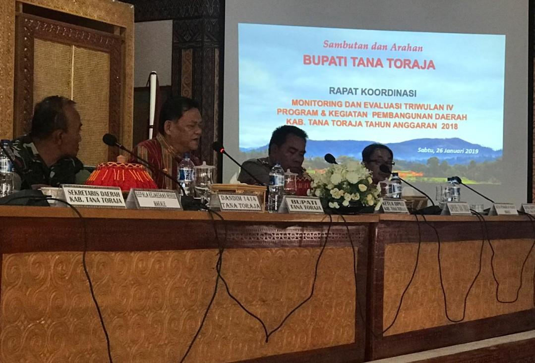 Hadiri Monev, Kristian Sebut Janji Politik Bupati dan Wabup Tana Toraja, Mulai Nampak