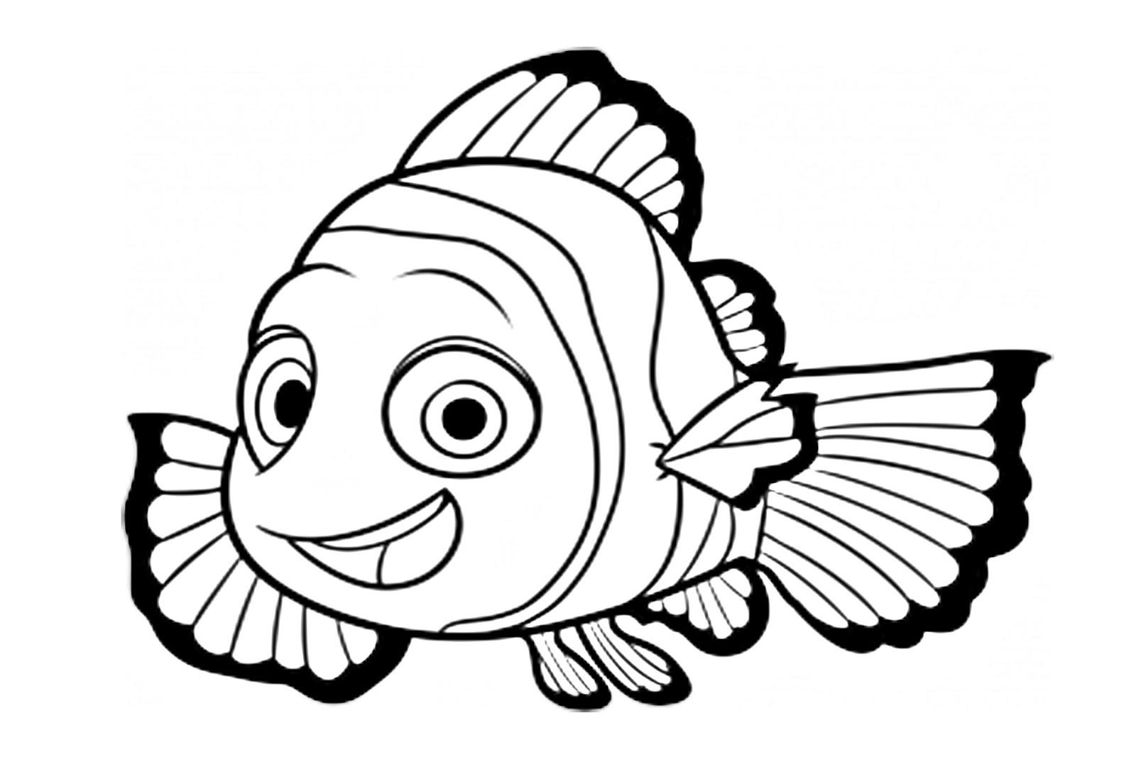 Buscando A Dory Para Colorear E Imprimir: Pinto Dibujos: Nemo Para Colorear