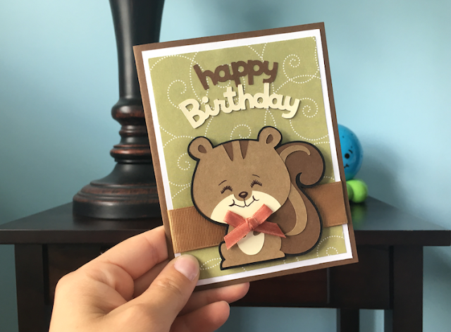 Create a Critter Squirrel Birthday Card