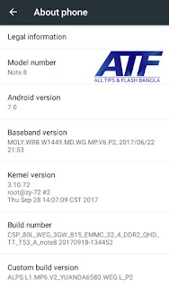 SAMSUNG GALAXY NOTE 8 CLONE FLASH FILE MT6580 ANDROID 7 0