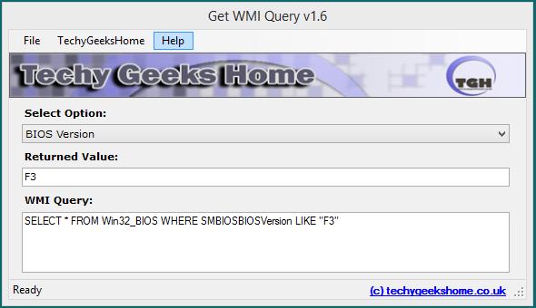 Get WMI Query v1.6 Released 4