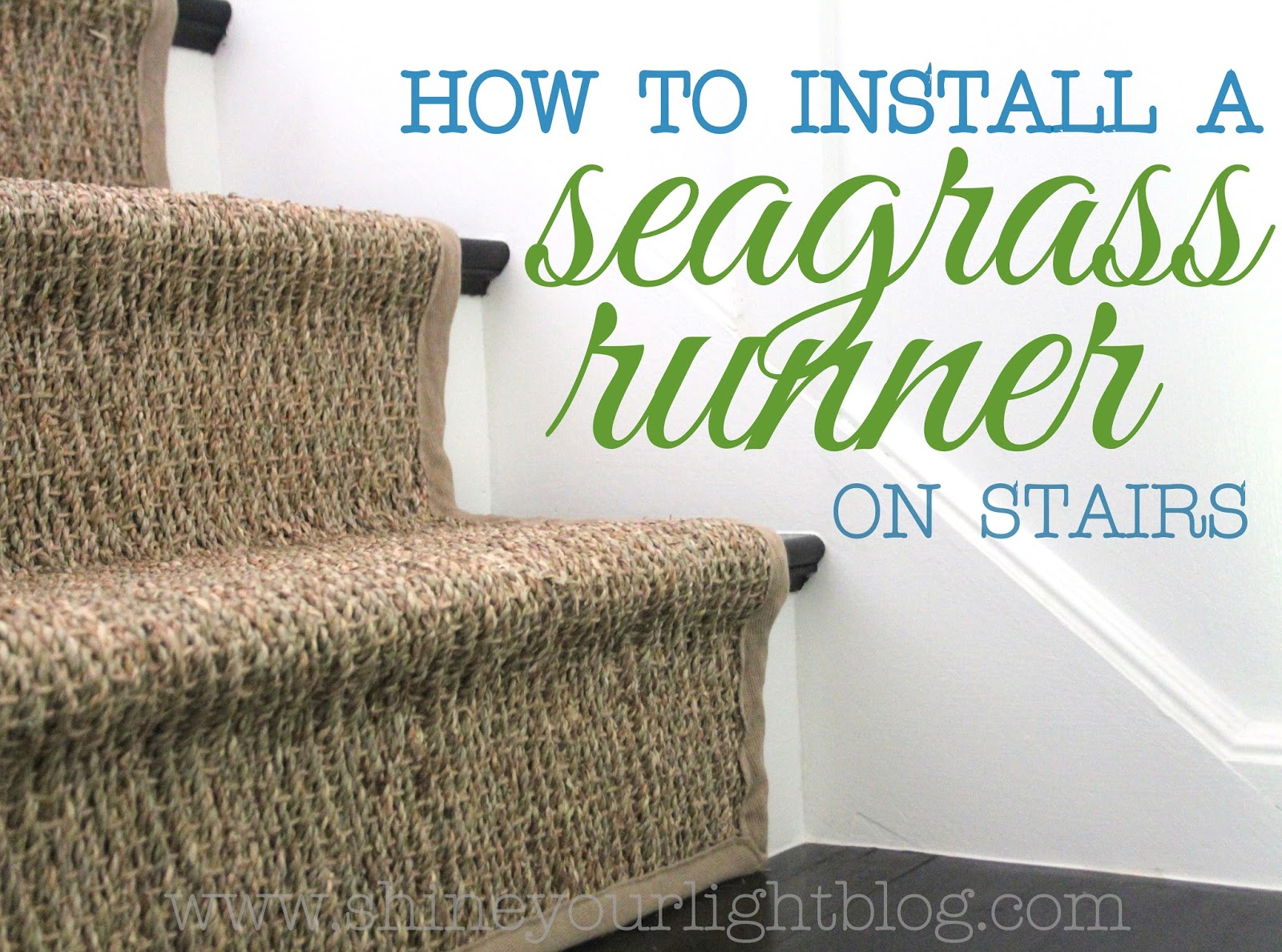 How To Install A Seagrass Stair Runner Shine Your Light | Seagrass Carpet On Stairs | Gray Wood | Hard Wearing | Grey | Stair Malay Chen Sisal | 80 20 Wool Carpet Stair